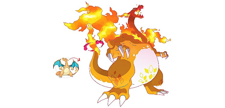 Pokémon Sword and Shield - Gigantamax Charizard