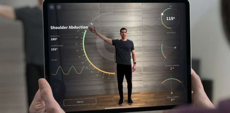 iPad Pro LiDAR scanner