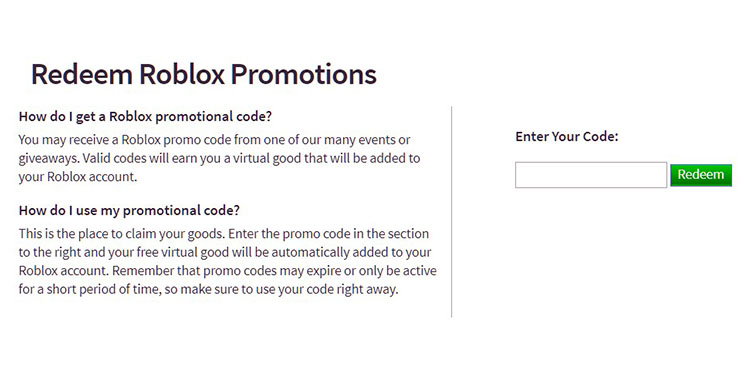 All Working Promo Codes In Roblox 2019 All Working Roblox Promo A Detailed List Of Roblox Promo Codes For September 2020 Matics Today