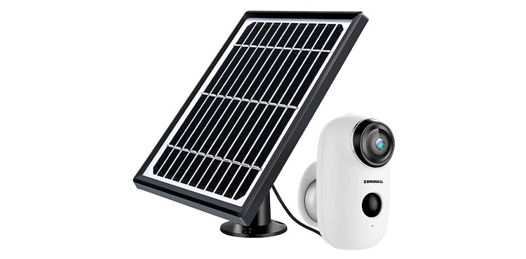 ZUMIMALL Solar Powered Security Camera